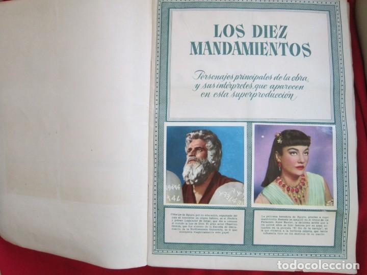 Coleccionismo Álbum: ALBUM COMPLETO LOS DIEZ MANDAMIENTOS. EDITORIAL BRUGUERA, 1959. BASTANTE BUENO - Foto 4 - 146657390