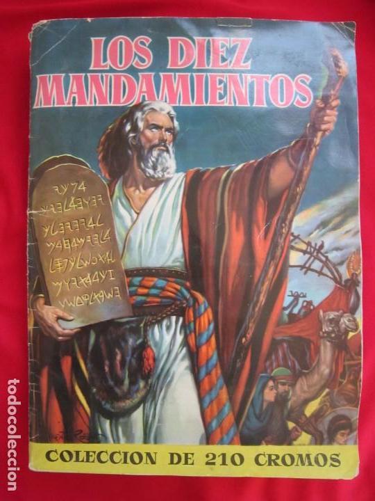 ALBUM COMPLETO LOS DIEZ MANDAMIENTOS. EDITORIAL BRUGUERA, 1959. BASTANTE BUENO (Coleccionismo - Cromos y Álbumes - Álbumes Completos)