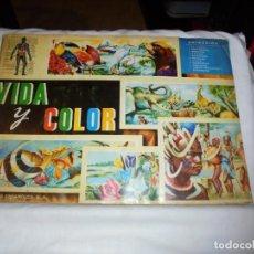 Coleccionismo Álbum: ALBUM VIDA Y COLOR COMPLETO 1965. Lote 146783182