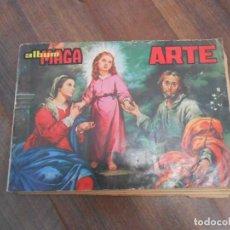 Coleccionismo Álbum: ALBUM CROMOS COMPLETO ARTE EDITORIAL MAGA PINTORES FORTUNY PICASSO GOYA ALBUN ALFREEDOM. Lote 146894306
