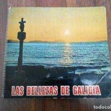 Coleccionismo Álbum: ALBUM CROMOS COMPLETO LAS BELLEZAS DE GALICIA ISLAS CIES AROSA AROUSA RIAS BAJAS TOJA GROVE VIGO XAM. Lote 146896374