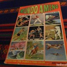 Coleccionismo Álbum: MUNDO AMENO COMPLETO 216 CROMOS. BRUGUERA 1973. BUEN ESTADO Y RARO.. Lote 147006718