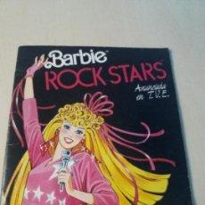 Coleccionismo Álbum: ALBUM BARBIE ROCK STARS PANINI-1986 COMPLETO CON SU POSTER CENTRAL COMPLETO. Lote 147433538
