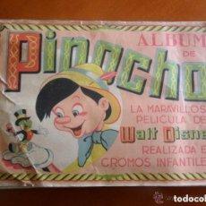 Coleccionismo Álbum: ALBUM DE CROMOS PINOCHO - WALT DISNEY - EDICIONES FHER - AÑOS 40 COMPLETO. Lote 147658194