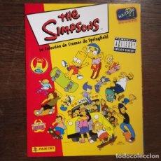 Coleccionismo Álbum: THE SIMPSONS, LA COLECCION DE CROMOS DE SPRINGFIELD. ALBUM PANINI COMPLETO. Lote 147671038