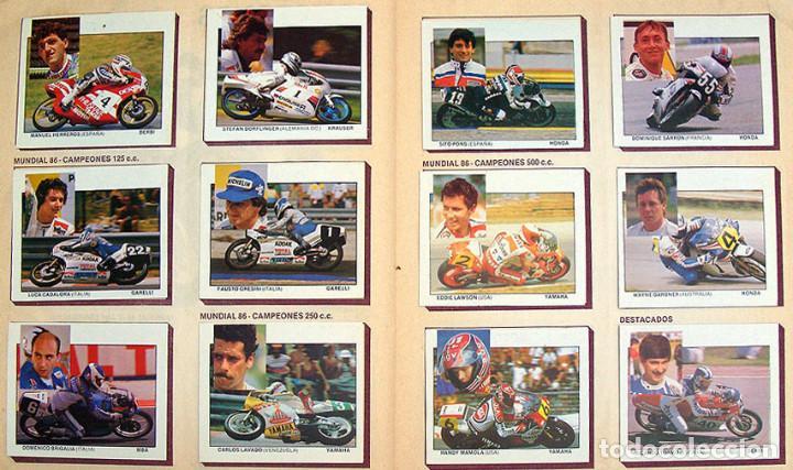 ALBUM 1987 MOTOS. PILOTOS, MARCAS Y MODELOS. MOTO MOTOR 16. FALTA UN CROMO. VER FOTOS (Coleccionismo - Cromos y Álbumes - Álbumes Completos)