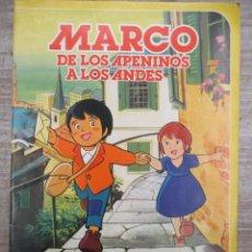 Coleccionismo Álbum: ALBUM DE CROMOS - MARCOS DE LOS APENINOS A LOS ANDES - DANONE - COMPLETO. Lote 147976006