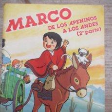 Coleccionismo Álbum: ALBUM DE CROMOS - MARCOS DE LOS APENINOS A LOS ANDES 2ª PARTE - DANONE - COMPLETO. Lote 147976126