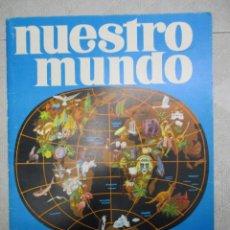 Coleccionismo Álbum: ALBUM DE CROMOS - NUESTRO MUNDO ATLAS ILUSTRADO - BIMBO -48 X 34 CM . Lote 147980782