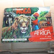 Coleccionismo Álbum: ALBUM DE CROMOS AFRICA, COMPLETO, EDITORIAL MAGA. Lote 148059602