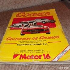 Coleccionismo Álbum: ALBUM COCHES,EDICIONES UNIDAS,AÑO 1986,COMPLETO. Lote 148566234