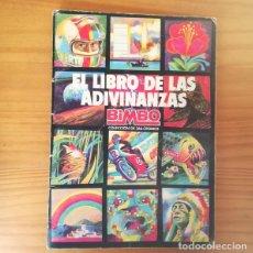 Coleccionismo Álbum: EL LIBRO DE LAS ADIVINANZAS. ALBUM DE CROMOS BIMBO COMPLETO 266 CROMOS.. Lote 148609194