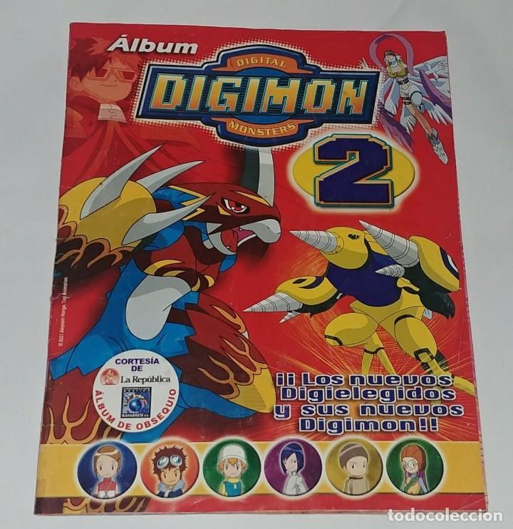 ALBUM DIGIMON 2 - EDITORIAL NAVARRETE 2001 - 100% COMPLETO (Coleccionismo - Cromos y Álbumes - Álbumes Completos)
