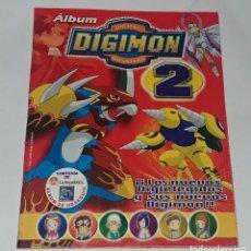 Coleccionismo Álbum: ALBUM DIGIMON 2 - EDITORIAL NAVARRETE 2001 - 100% COMPLETO. Lote 149592434