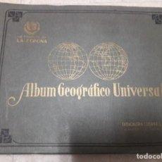 Coleccionismo Álbum: ALBUM GEOGRAFICO UNIVERSAL CIGARRILLOS LA CORONA.TABACALERA CUBANA 1936.. Lote 149850862