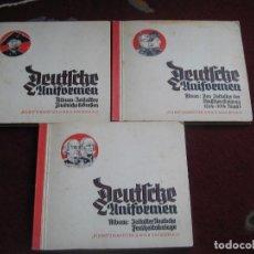 Coleccionismo Álbum: DEUTFCHE UNIFORMEN LOTE ALBUMES TRAJES MILITARES. Lote 149880982