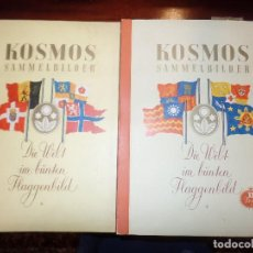 Coleccionismo Álbum: KOSMOS SAMMELBILDER ALBUMES ALEMANES BANDERAS. Lote 149881734