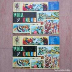 Coleccionismo Álbum: 2 ÁLBUMES COMPLETOS VIDA Y COLOR 1965 (VER TODAS LAS PÁGINAS EN FOTOGRAFÍAS ADICIONALES). Lote 150580238