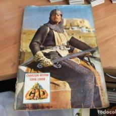 Coleccionismo Álbum: EL CID CHARLOS HESTON SOFIA LOREN. ALBUM COMPLETO FHER (COIM21). Lote 150834570