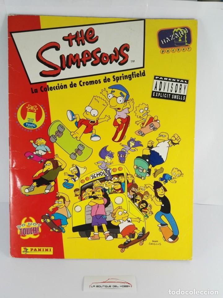 ALBUM COMPLETO THE SIMPSONS LA COLECCION DE CROMOS DE SPRINGFIELD (Coleccionismo - Cromos y Álbumes - Álbumes Completos)