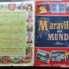 Coleccionismo Álbum: MARAVILLAS DEL MUNDO, ALBUM 1 BRUGUERA 1956. Lote 151097782