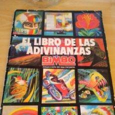 Coleccionismo Álbum: **ALBUM (COMPLETO), -- EL LIBRO DE LAS ADIVINANZAS (BIMBO) COLECCIÓN DE 266 CROMOS**. Lote 151275626