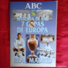 Coleccionismo Álbum: REAL MADRID, HISTORIA DE LAS 7 COPAS DE EUROPA, PERIODICO ABC 1998. COMPLETO BUEN ESTADO + REGALO. Lote 151281518