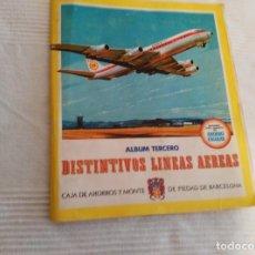Coleccionismo Álbum: ÁLBUM DISTINTIVOS DE LÍNEAS AÉREAS. COMPLETO 1969 CAJA DE AHORROS DE BARCELONA. Lote 151438526