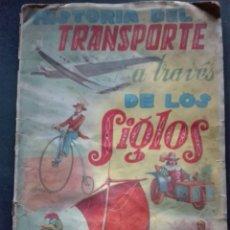 Coleccionismo Álbum: HISTORIA DEL TRANSPORTE A TRAVÉS DE LOS SIGLOS EDITORIAL FHER. Lote 152555552