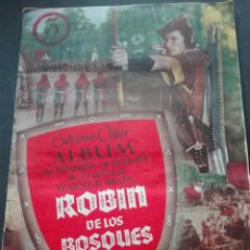 Coleccionismo Álbum: ÁLBUM CROMOS COMPLETO ROBIN DE LOS BOSQUES EDICIONES CLIPER DE LA PELÍCULA DE WARNER BROS. Lote 152558280