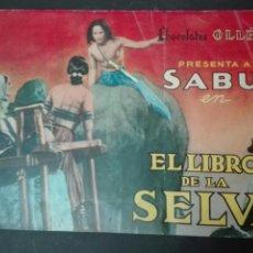 Coleccionismo Álbum: ÁLBUM CHOCOLATE OLLE . SABU EN EL LIBRO DE LA SELVA. COMPLETO. Lote 152561898