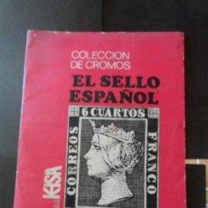 Coleccionismo Álbum: ÁLBUM DE CROMOS EL SELLO ESPAÑOL 1967/1971, EDICIONES KEISA COMPLETO 322 CROMOS . Lote 152562210