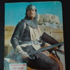 Coleccionismo Álbum: ÁLBUM APAISADO EL CID DISTRIBUID POR FILMAYER CON CHARLON HESTON SOFÍA LOREN AÑO 1962 EDITORIAL FHER. Lote 152566344