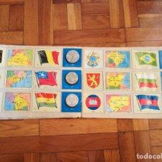 Coleccionismo Álbum: ALBUM DE CROMOS COLECCION UNIVERSAL LIBRO DE BANDERAS ESCUDOS MONEDAS MAPAS. 1962 COMPLETO. Lote 152566434