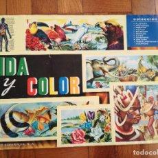 Coleccionismo Álbum: ANTIGUO ALBUM DE CROMOS VIDA Y COLOR AÑO 1965. COMPLETO CON 380 CROMOS. Lote 152567270