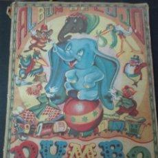 Coleccionismo Álbum: ÁLBUM COMPLETO DUMBO ELEFANTITO VOLADOR COMPLETO 240 CROMOS FHER AÑOS 40 CON PÓSTER CENTRAL. Lote 152567793