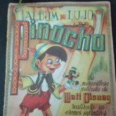Coleccionismo Álbum: ÁLBUM DE LUJO COMPLETO PINOCHO 240 CROMOS EDITORIAL FHER 1942 WALT DISNEY. Lote 152568256