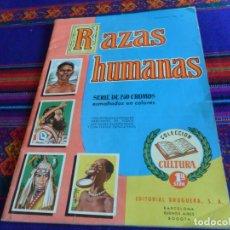 Coleccionismo Álbum: RAZAS HUMANAS 250 CROMOS ESMALTADOS EN COLORES VACÍO CON 55 SUELTOS, RAZAS HUMANAS COMPLETO 1ª SERIE. Lote 67113413