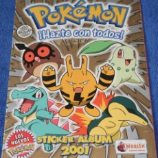 Coleccionismo Álbum: POKEMON ¡HAZTE CON TODOS ! - MERLIN STICKERS (2001) ¡COMPLETO E IMPECABLE!. Lote 152844094
