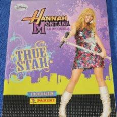 Coleccionismo Álbum: HANNAH MONTANA - LA PELÍCULA - TRUE STAR - PANINI ¡COMPLETO E IMPECABLE!. Lote 152844350
