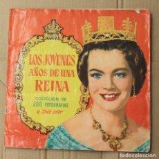 Coleccionismo Álbum: ALBUM CROMOS LOS JOVENES AÑOS DE UNA REINA. 200 CROMOS. COMPLETO. EDITORIAL BRUGUERA. Lote 153349529