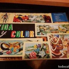 Coleccionismo Álbum: VIDA Y COLOR - ÁLBUM COMPLETO EN BASTANTE BUEN ESTADO. Lote 153573134