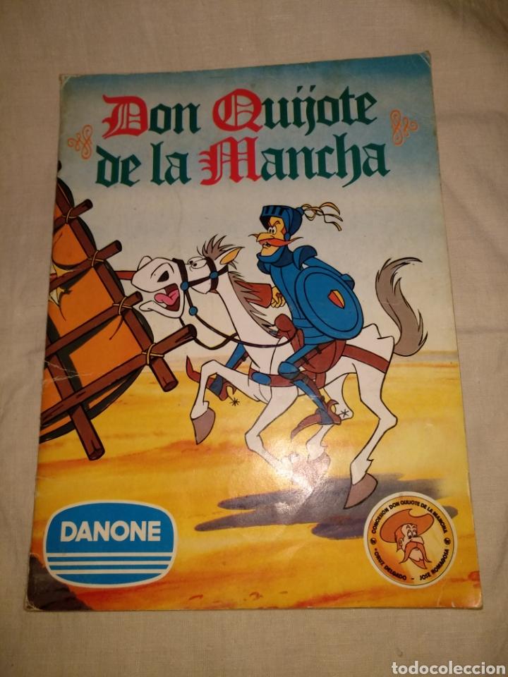 ANTIGUO ÁLBUM CROMOS DON QUIJOTE DELA MANCHA DANONE COMPLETO. 1979. (Coleccionismo - Cromos y Álbumes - Álbumes Completos)