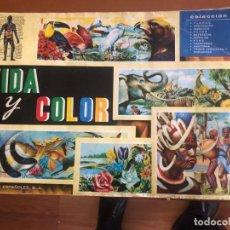 Coleccionismo Álbum: VIDA Y COLOR COMPLETO. Lote 153651762