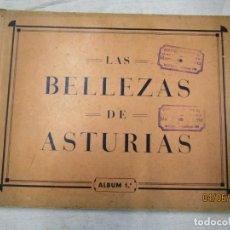 Coleccionismo Álbum: ALBUM DE 650 CROMOS 'LAS BELLEZAS DE ASTURIAS ' COMPLETO - OVIEDO 1933, GIL GANELLAS + INFO. Lote 153882062