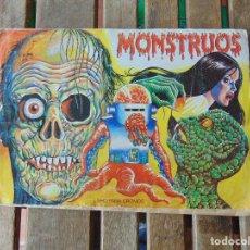Coleccionismo Álbum: ALBUM MONSTRUOS LIBRO PARA CROMOS COMPLETO MUNDI CROMO MIREN FOTOS. Lote 153959250