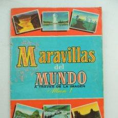 Coleccionismo Álbum: ALBUM CON CROMOS MARAVILLAS DEL MUNDO ALBUM 1 PRIMERA EDICION BRUGUERA AÑO1956. Lote 154974394