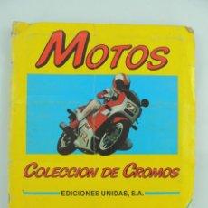 Coleccionismo Álbum: ALBUM DE CROMOS MOTOS EDICIONES UNIDAS COMPLETO. Lote 154988310