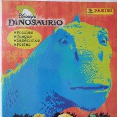 Coleccionismo Álbum: ALBUM COMPLETO DINOSAURIOS PANINI. Lote 155133530