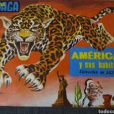 Coleccionismo Álbum: ALBUM MAGA AMÉRICA Y SUS HABITANTES COMPLETO -252 CROMOS-1968-BUEN ESTADO. Lote 155167278